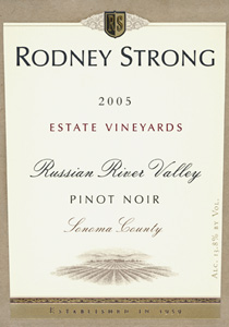 Wine: Rodney Strong Vineyards 2005 Pinot Noir, Estate Vineyards (Russian River Valley)