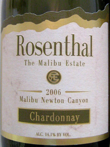 Rosenthal - The Malibu Estate 2006 Chardonnay  (Malibu Newton Canyon)