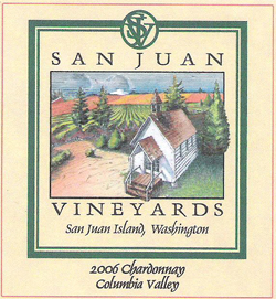 San Juan Vineyards 2006 Chardonnay  (Columbia Valley)