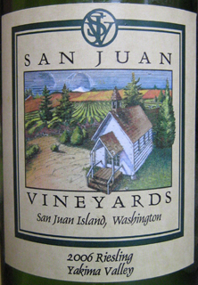San Juan Vineyards 2006 Riesling  (Yakima Valley)