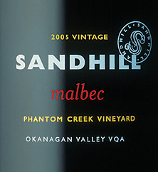 Sandhill 2005 Malbec - Small Lots, Phantom Creek Vineyard (Okanagan Valley)