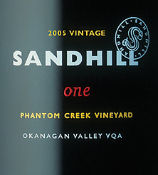 Sandhill 2005 one - Small Lots, Phantom Creek Vineyard (Okanagan Valley)