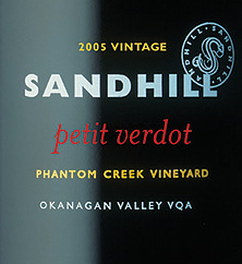 Sandhill 2005 Petit Verdot - Small Lots, Phantom Creek Vineyard (Okanagan Valley)