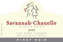 Wine:Savannah-Chanelle Vineyards 2003 Pinot Noir, Tina Marie Vineyard (Green Valley of Russian River Valley)