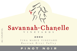 Wine:Savannah-Chanelle Vineyards 2004 Pinot Noir, Tina Marie Vineyard (Green Valley of Russian River Valley)