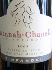 Wine:Savannah-Chanelle Vineyards 2003 Zinfandel, Estate (Santa Cruz Mountains)