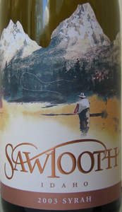 Sawtooth Winery 2003 Syrah  (Snake River Valley)