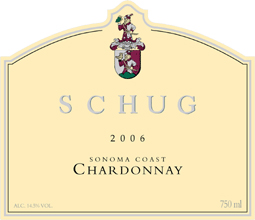 Schug Carneros Estate Winery 2006 Chardonnay  (Sonoma Coast)