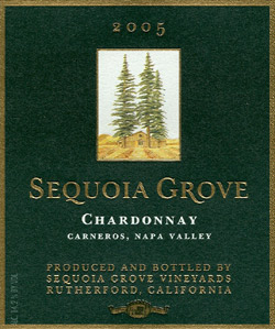 Wine:Sequoia Grove Vineyard 2005 Chardonnay  (Carneros ~ Los Carneros)