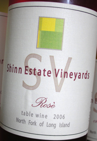 Wine:Shinn Estate Vineyards 2006 Rosé, Estate (North Fork of Long Island)