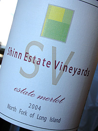 Wine: Shinn Estate Vineyards 2004 Merlot, Estate (North Fork of Long Island)