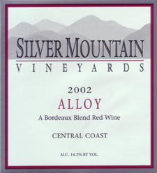 Silver Mountain Vineyards 2002 Alloy - Bordeaux Blend  (Central Coast)