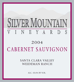 Silver Mountain Vineyards 2004 Cabernet Sauvignon, Weideman Ranch (Santa Clara Valley)