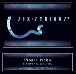 Six Strings Winery 2005 Pinot Noir  (Monterey County)