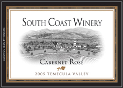Wine:South Coast Winery 2005 Cabernet Rose  (Temecula Valley)