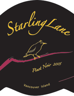 Wine:Starling Lane Winery 2005 Pinot Noir  (Vancouver Island)
