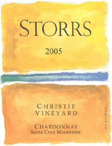 Wine:Storrs Winery 2005 Chardonnay, Christie Vineyard (Santa Cruz Mountains)