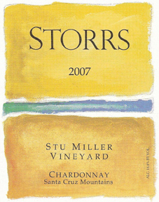 Storrs Winery 2007 Chardonnay, Stu Miller Vineyard (Santa Cruz Mountains)