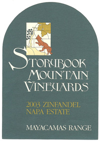 Wine: Storybook Mountain Vineyards 2003 Mayacamas Range Zinfandel  (Napa Valley)