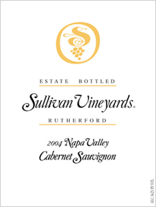 Sullivan Vineyards 2004 Cabernet Sauvignon, Estate (Rutherford)