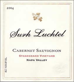 Wine:Surh-Luchtel Cellars 2004 Cabernet Sauvignon, Stagecoach Vineyard (Napa Valley)