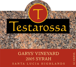 Testarossa Vineyards 2005 Syrah, Garys' Vineyard (Santa Lucia Highlands)