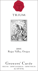 Wine:Trium Winery 2004 Growers' Cuvee  (Rogue Valley)