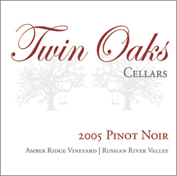 Twin Oaks Cellars 2005 Pinot Noir, Amber Ridge Vineyard  (Russian River Valley)