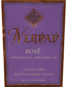 Verdad 2006 Rosé  (Arroyo Grande Valley)