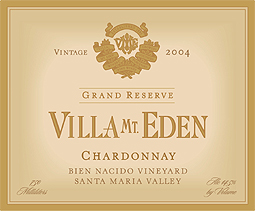 Villa Mt. Eden Winery 2004 Grand Reserve Chardonnay, Bien Nacido Vineyard (Santa Maria Valley)