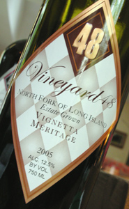 Vineyard 48 2005 Vignetta Meritage  (North Fork of Long Island)