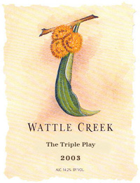 Wattle Creek Winery 2003 The Triple Play  (Yorkville Highlands)