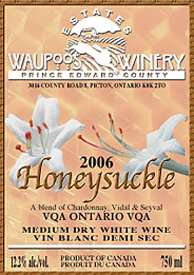 wine Waupoos Estates Winery 2006 Honeysuckle  (Ontario)