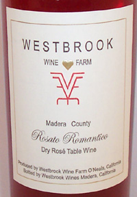 Wine: Westbrook Wine Farm  Rosato Romantico  (Madera)