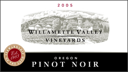 Wine:Willamette Valley Vineyards 2005 Pinot Noir  (Oregon)