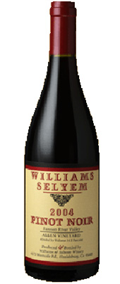 Wine:Williams Selyem Winery 2004 Pinot Noir, Allen Vineyard (Russian River Valley)