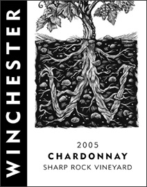 Wine: Winchester Cellars 2005 Chardonnay, Sharp Rock Vineyard (Okanagan Valley)