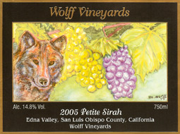Wolff Vineyards 2005 Petite Sirah  (Edna Valley)