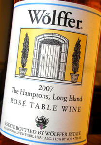 Wolffer Estate Vineyard 2007 Rose  (Hamptons Long Island)