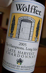 Wolffer Estate 2005 Late Harvest Chardonnay  (Long Island)