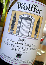 Wolffer Estate Vineyard Estate Selection Merlot