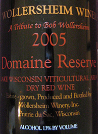 Wollersheim Winery 2005 Domaine Reserve  (Wisconsin)