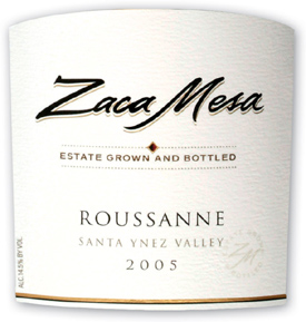 Zaca Mesa Winery 2005 Roussanne, Estate Grown & Bottled (Santa Ynez Valley)