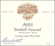 Ahh Brickhill Vineyard Pinot Noir