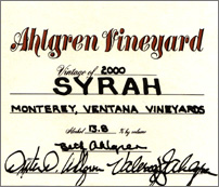 Ahlgren Vineyard Syrah