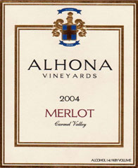Alhona Vineyards-Merlot