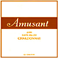 Amusant Wines Napa Valley Wine Label
