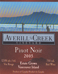 Averill Creek Vineyard Pinot Noir