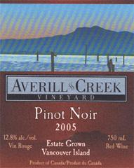 Averill Creek Vineyard Pinot Noir