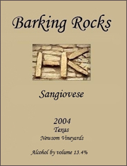 Barking Rocks Winery-Sangiovese